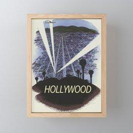 Hollywood Glamour vintage poster Framed Mini Art Print