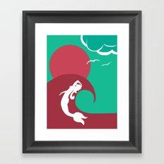 Mermaid Silhouette Framed Art Print