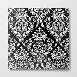 SLOTH FLORAL DAMASK Metal Print