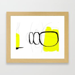 Blocks-Yellow Jam Framed Art Print