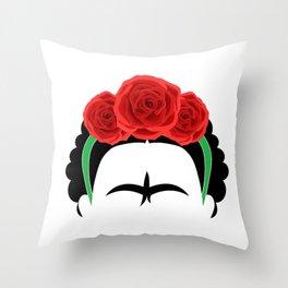Frida Kahlo: Te quiero mas que mi propia piel. Throw Pillow