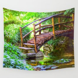 Fairy Tale Bridge  Wall Tapestry
