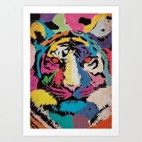 Acid Tiger Art Print