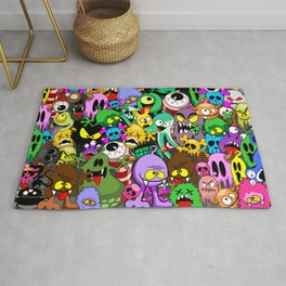 Monsters Doodles Characters Saga Rug