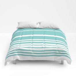 Scandi Pastel Mint Stripes Comforters