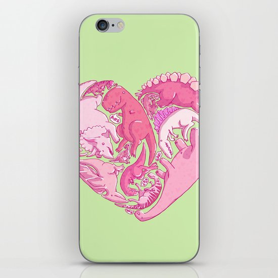 Loveasaurus iPhone & iPod Skin