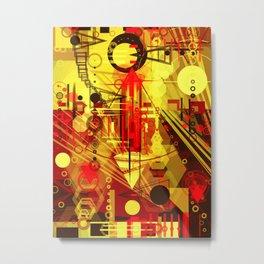 Steampunk city Metal Print