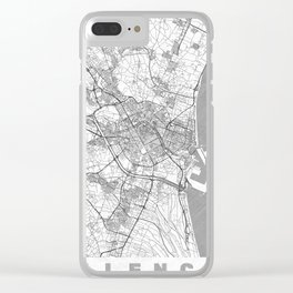 Valencia Map Line Clear iPhone Case