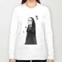 studio ghibli Long Sleeve T-shirts featuring Studio Ghibli - Noface and Dango by Kayla Phan
