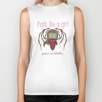 starcraft Biker Tanks featuring Fight Like a Girl - Starcraft's Infested Kerrigan by ~ isa ~