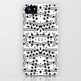 black square elements iPhone Case