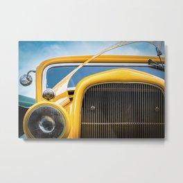 Yellow Truck Metal Print