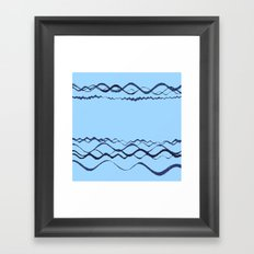 1380249359 in blue Framed Art Print