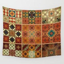 Vintage mosaic talavera ornament Wall Tapestry