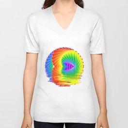 Rainbow kaleidoscope Unisex V-Neck
