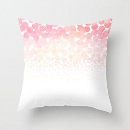 Circle Descent Rose Gold Throw Pillow