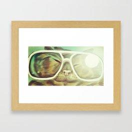 Cat Selfie Framed Art Print