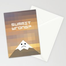 summit wrong? Stationery Cards