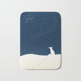 White wolf Bath Mat