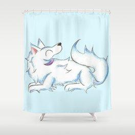 Soft White Shower Curtain