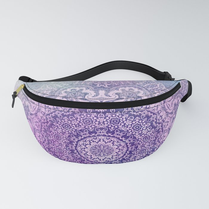 big beauty mandala in pale blues Fanny Pack