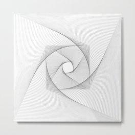 Modern Black and White Swirl Metal Print
