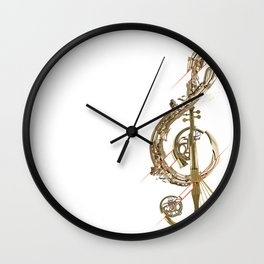 Musical Instruments - Treble Clef Wall Clock