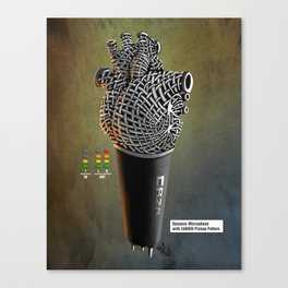 CRZN Dynamic Microphone - 003 Canvas Print