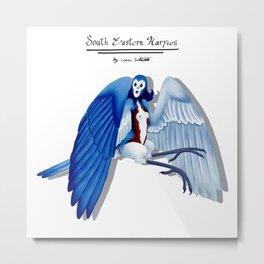 Blue Bird Harpy Metal Print