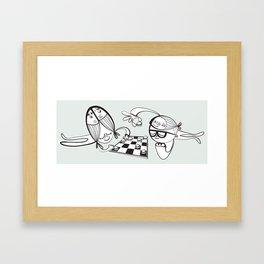 6 Fish Haircuts Framed Art Print