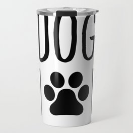 Dog Mom Paw Travel Mug