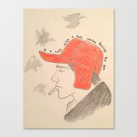 catcher in the rye Canvas Prints featuring Catcher In the Rye by Moira Sweeney