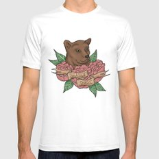 Bearly There Mens Fitted Tee SMALL White