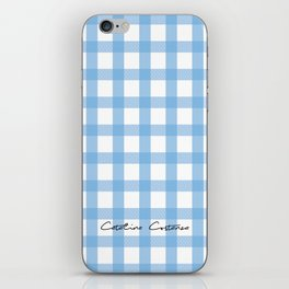 Indigo Gingham iPhone Skin