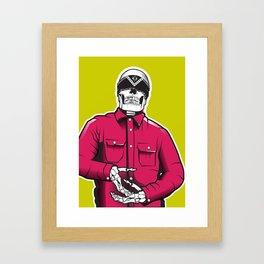 Vato Loco Skull Framed Art Print