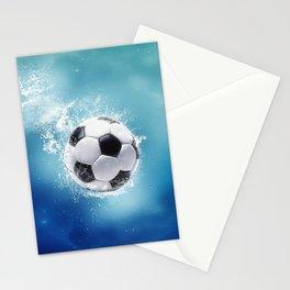 Soccer Water Splash Stationery Cards