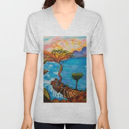 Sunset at Torrey Pines Unisex V-Neck