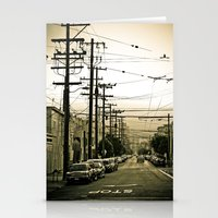 street Stationery Cards featuring street by petervirth photography