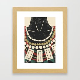Necklaces Framed Art Print