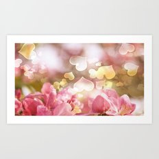 i heart Pink Crabapple Tree Blossoms Art Print