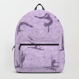 Violet Gymnastics Duvet Backpack