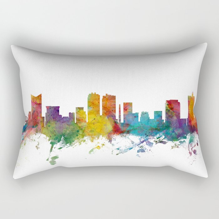 Fort Worth Texas Skyline Rectangular Pillow