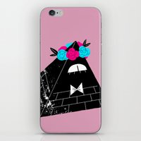 bill cipher iPhone & iPod Skins featuring Flower Crown Bill Cipher by desmormos