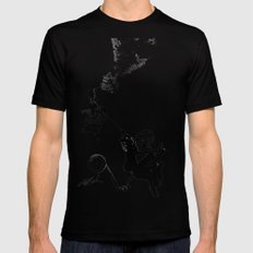 Up, Up and Away Mens Fitted Tee Black MEDIUM