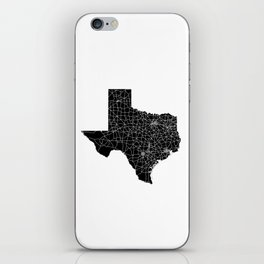 Texas Black Map iPhone Skin