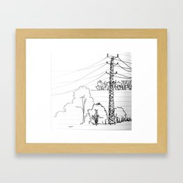 view from train Framed Art Print