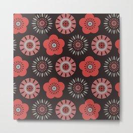 MCM Flower Power Metal Print