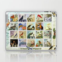 Birds of a Feather Postal Collage Laptop & iPad Skin