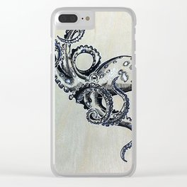 Blue Ringed Octopus and Crab Clear iPhone Case