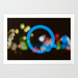 Lights in the city Art Print